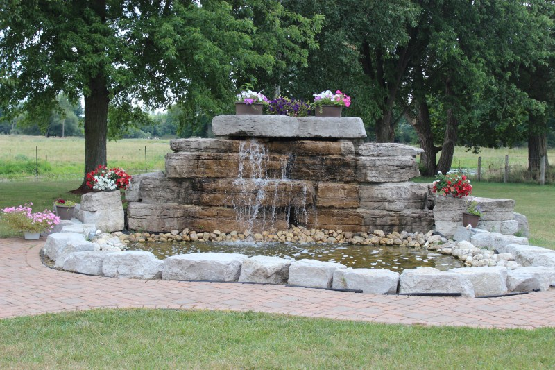 waterfall landscaping ontario